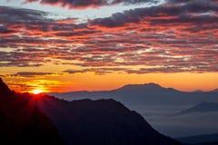 Pierwszy Ray góra Bromo Fotografia Royalty Free