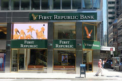 Pierwszy republika bank obraz royalty free