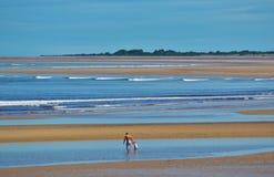 Pierwszy spacer w morzu Fotografia Stock