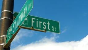 Pierwszy ulica Fotografia Royalty Free
