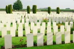 Pierwszy wojna światowa cmentarz w Belgia Flandryjskim Zdjęcie Royalty Free