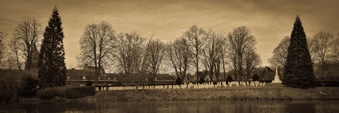 Pierwszy wojna światowa cmentarz Ypres Zdjęcie Stock