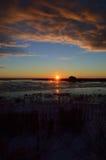 Pierwszy wschód słońca Fotografia Royalty Free
