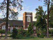 Pierwszy Zlany kościół metodystów, Corvallis, Oregon zdjęcie stock