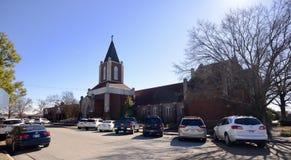 Pierwszy Zlany kościół metodystów kampus, Zachodni Memphis, Arkansas zdjęcia royalty free