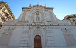 Pierzeja antyczny kościelny Świątobliwy Ferreol, Marseille, Południowy Francja obraz stock