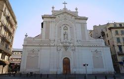 Pierzeja antyczny kościelny Świątobliwy Ferreol, Marseille, Południowy Francja fotografia royalty free