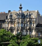 Pierzeja budynek w mieście Budapest fotografia stock