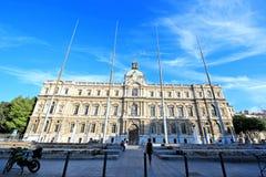 Pierzeja historycznego budynku ` prefektury ` w Marseille, Francja zdjęcia stock