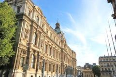 Pierzeja historycznego budynku ` prefektury ` w Marseille, Francja zdjęcie stock