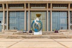 Pierzeja podstawa dla pokoju badania Yamoussoukro Z kości słoniowej wybrzeża obrazy royalty free