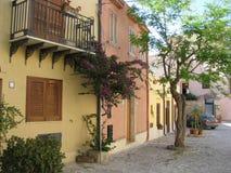 pierzeje mieścą sicillian ulicę Obraz Stock