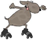 pies łyżwy royalty ilustracja