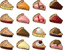 Pies. Variety of pies and toppings. Mix and match to create your own variations Stock Photography