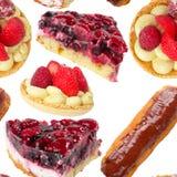Pies And Tarts Seamless Wallpaper Stock Image