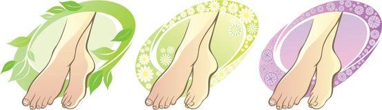 Pies aromatherapy ilustración del vector
