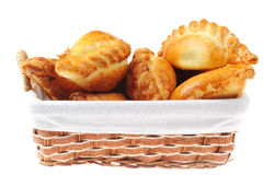 Pies in  basket Stock Image
