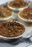 Mini Mealworm Pecan Pies stock photo