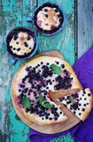 Pies with blueberries Royalty Free Stock Image
