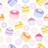 Pies, cakes and cookies Royalty Free Stock Images
