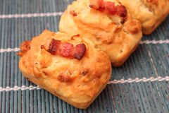 Pies with cheese and bacon Stock Photo