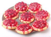 Pies with cherries Royalty Free Stock Images