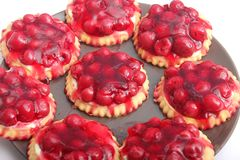 Pies with cherries. Some fresh homemade pies with cherries Stock Images