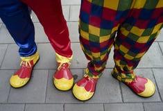 Pies coloridos del payaso Imagen de archivo libre de regalías