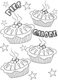 Pies coloring page Royalty Free Stock Photos