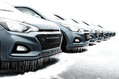 Pies congelados del coche foto de archivo