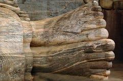 Pies de Buddha Imagen de archivo