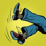 Pies de caídas del hombre libre illustration