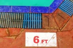 6 pies de instrucciones Imagen de archivo libre de regalías