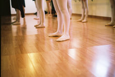 Pies de la bailarina Fotografía de archivo