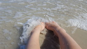 Pies de la playa Imagenes de archivo
