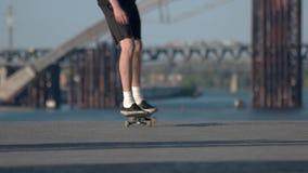 Pies de un skater almacen de video
