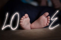 Pies del AMOR Imagen de archivo libre de regalías
