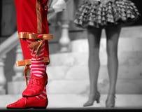 Pies del baile Imagen de archivo