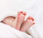 Pies del bebé Foto de archivo libre de regalías