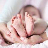 Pies del bebé Fotografía de archivo
