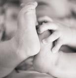 Pies del bebé Macro Primer Fotografía de archivo