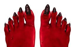 Pies del diablo ilustración del vector
