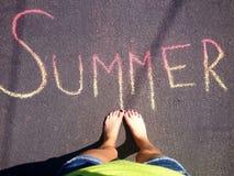 Pies del verano Imagen de archivo libre de regalías