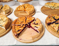 Pies with different fillings. Royalty Free Stock Image