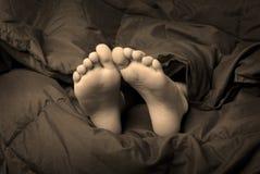 Pies el dormir Imagen de archivo