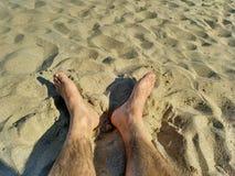 Pies en la playa Royalty Free Stock Photography