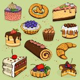 Pies and flour products for bakery, pastry Stock Photography