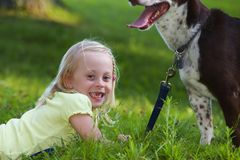 Pies i dziecko Zdjęcie Royalty Free