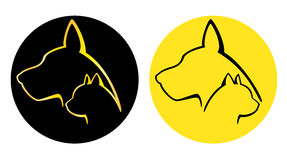 Pies I Kot logotypy Zdjęcie Stock