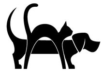 Pies i kot skład Obraz Stock